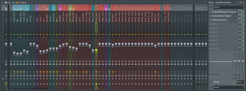 Fl Studio 12 - Mixer compact